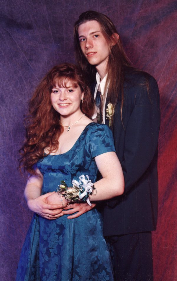 "Yes, this is the two of us at my Senior Prom. I graduated HS a year early but a close friend and I ""swapped dates"" to buy tickets so we could attend."